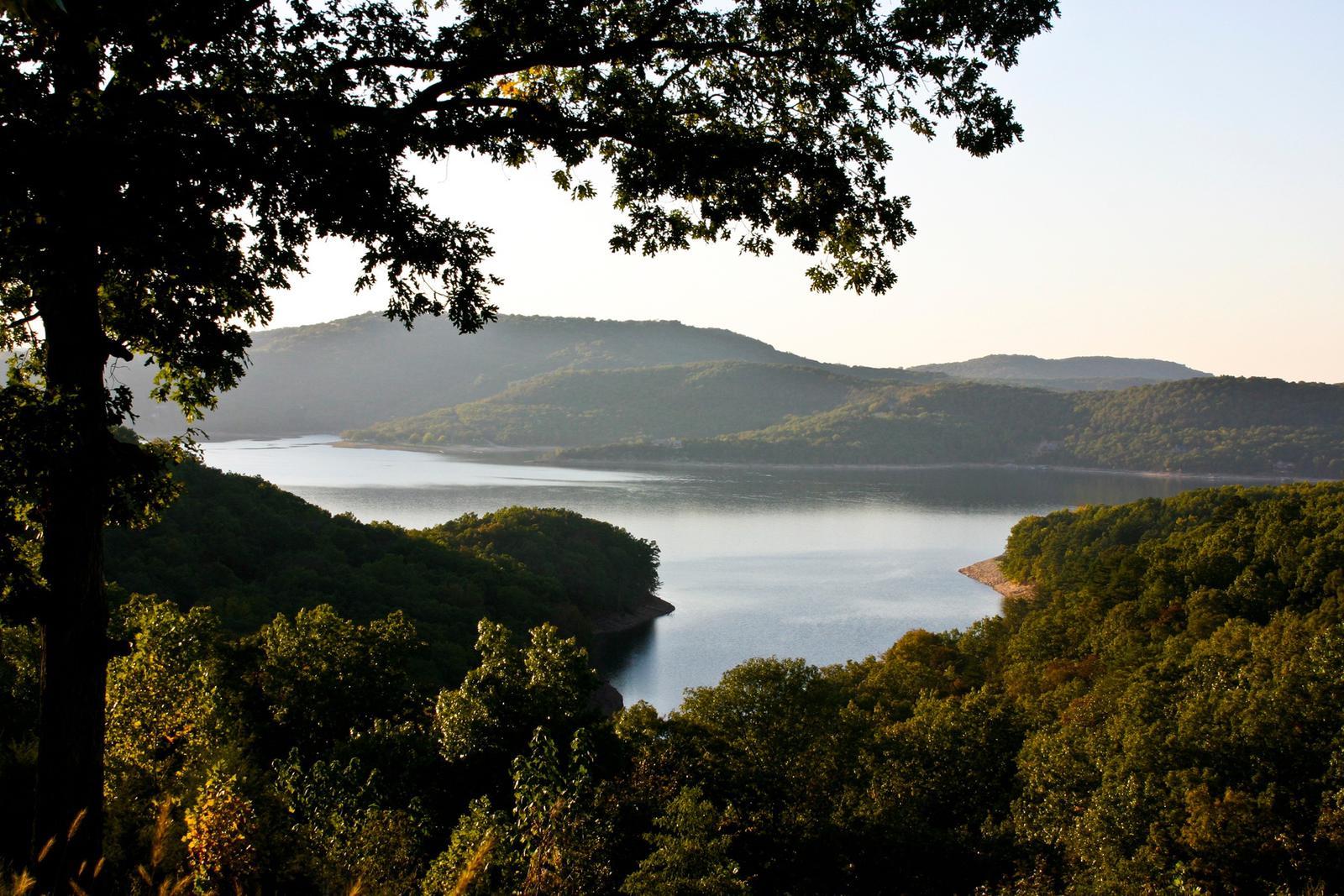 Lake through the treesBeaver Lake