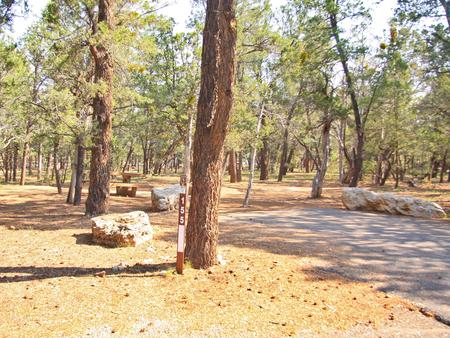 Picnic table and parking spot, Mather CampgroundPicnic table and parking spot for Juniper Loop 155, Mather Campground