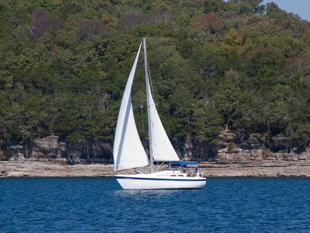 Sailing on Beaver Lakesailboat on the lake