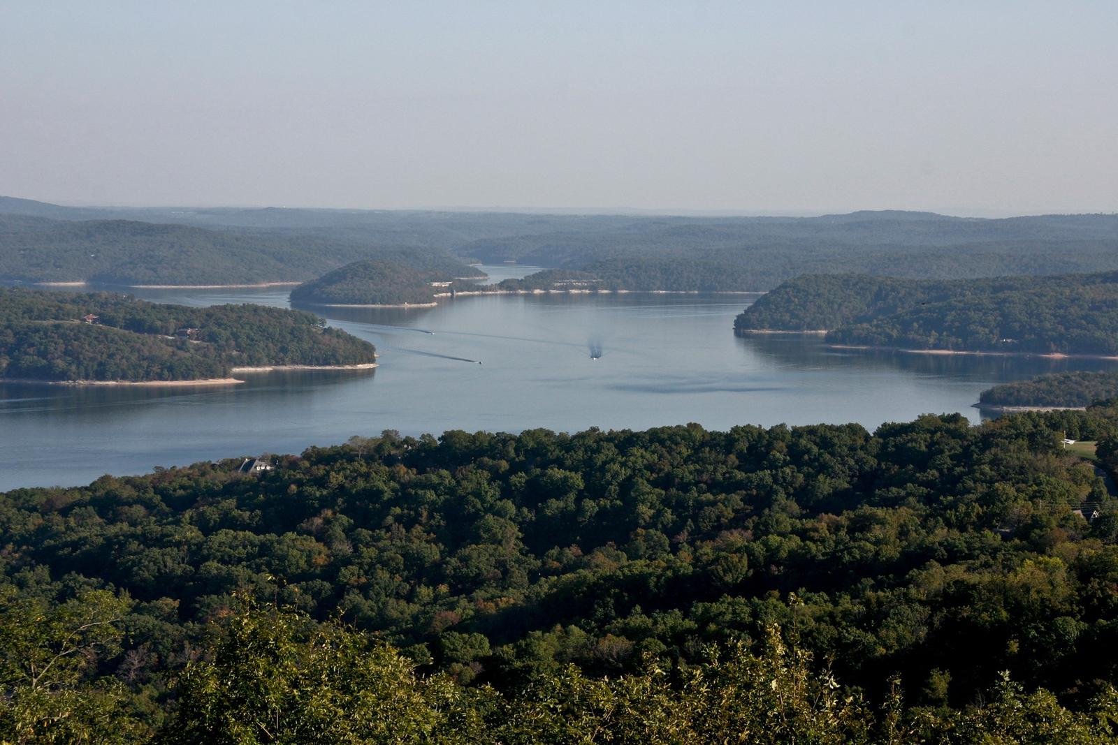 aerial of Beaver LakeBeaver Lake from Whitney Mountain