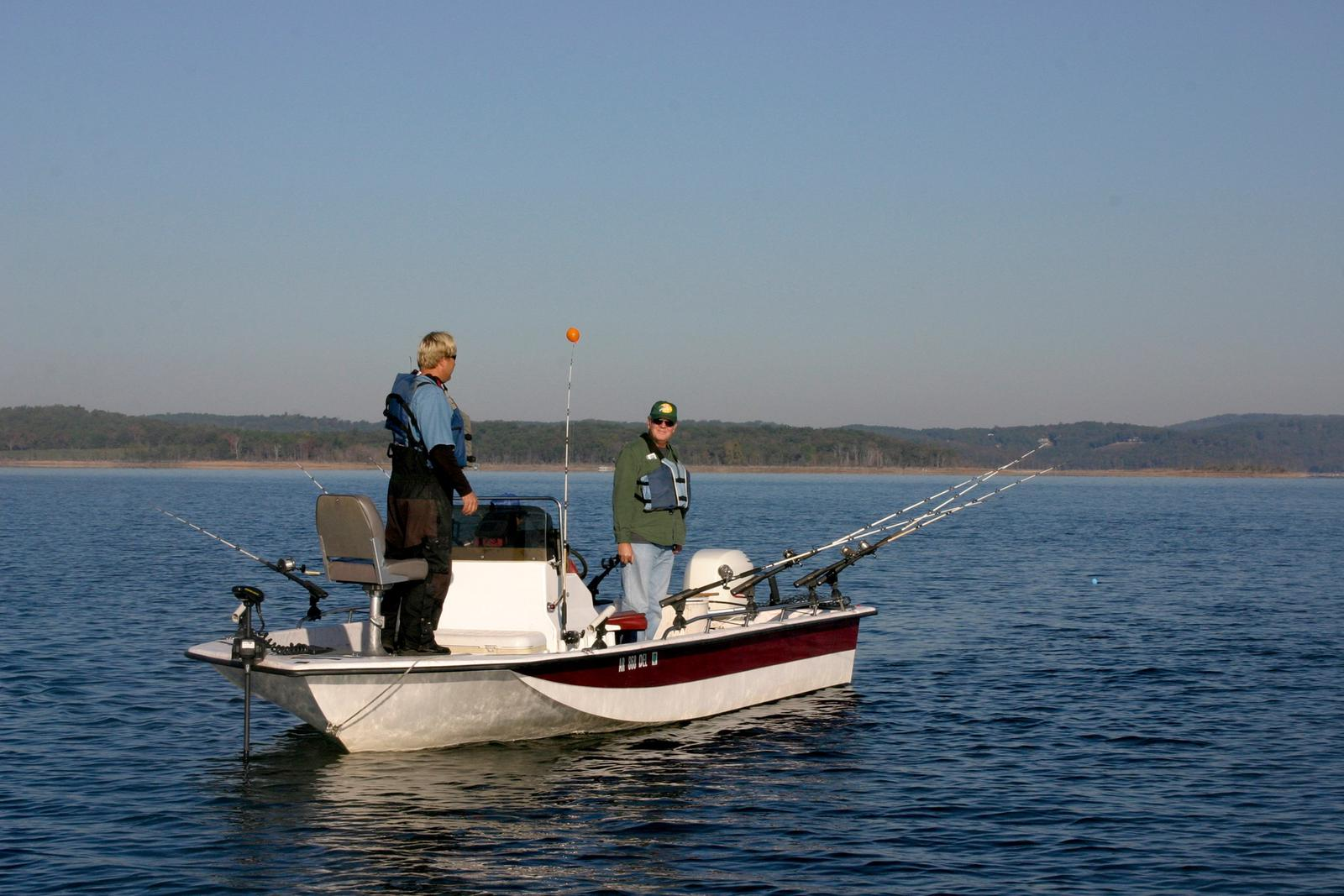 fishing on Beaver LakeFishing on Beaver Lake