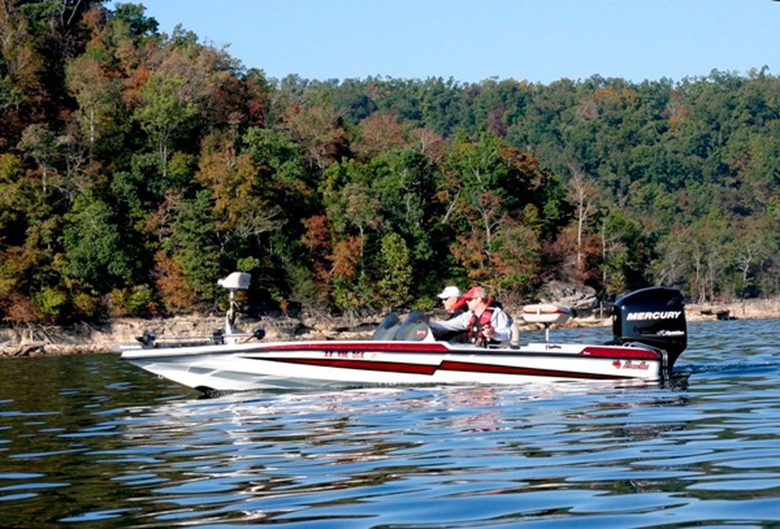 Boating on Beaver Lakeboat floating on the lake