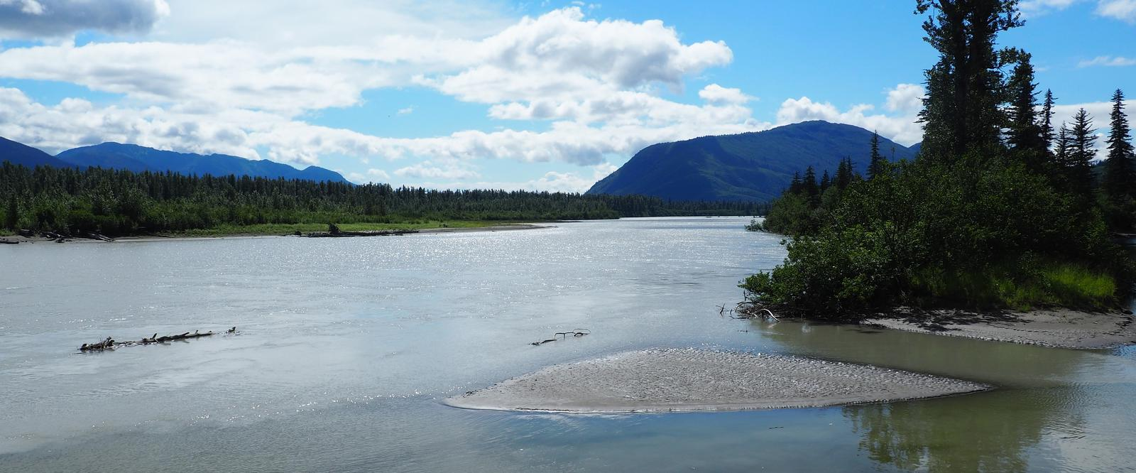 View of Stikine River from Twin Lakes Cabin