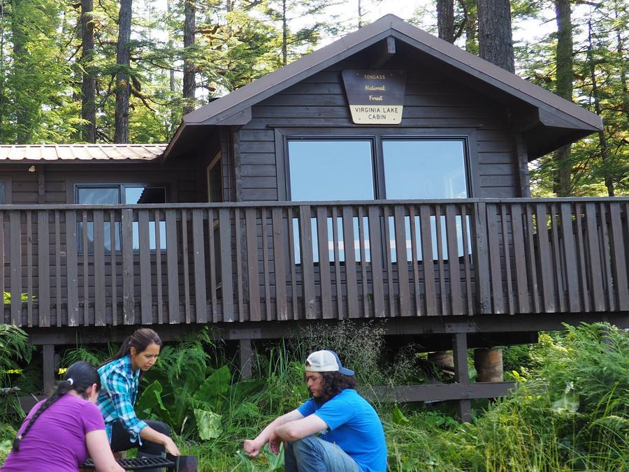 Campers at Virginia Lake Cabin