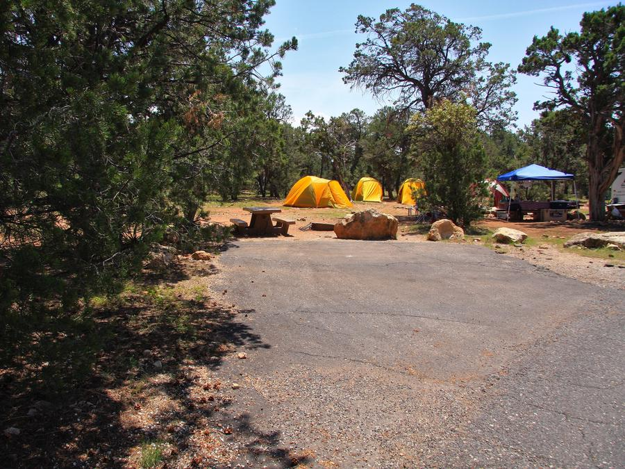 Picnic table, fire pit, and parking spot, Mather CampgroundPicnic table, fire pit, and parking spot for Juniper Loop 169, Mather Campground
