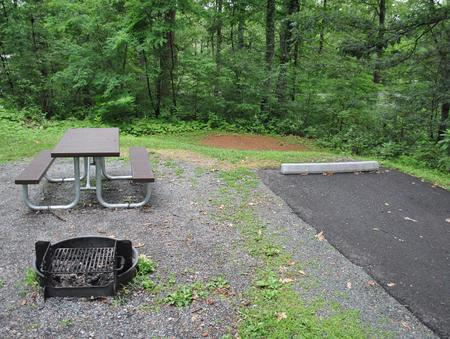 Mathews Arm Campground - Site B121