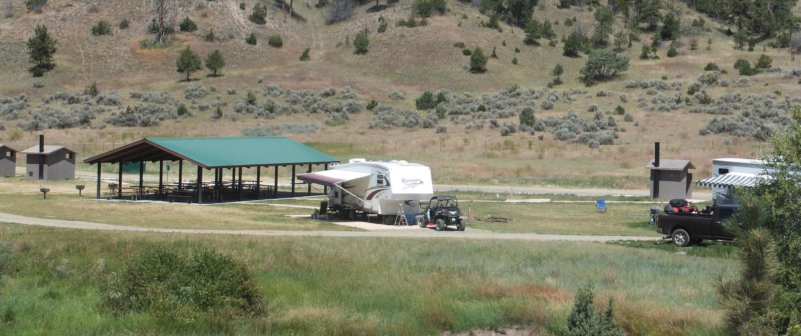 Hellgate Campground - Lewis and Clark Shelter Area