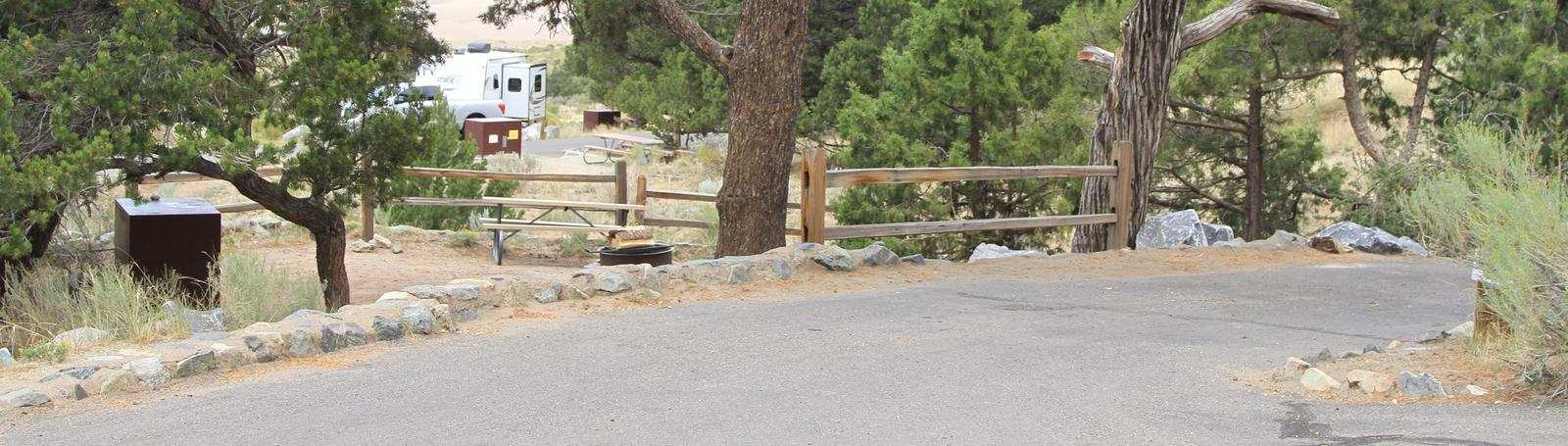 Site #4, Pinon Flats Campground