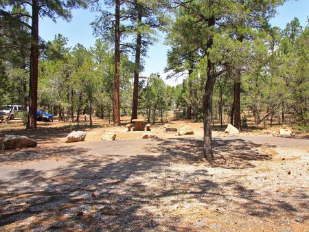 Picnic table, fire pit, and parking spot, Mather CampgroundPicnic table, fire pit, and parking spot for Juniper Loop 179, Mather Campground