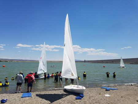 Cochiti Lake3ROTC learning how to sail