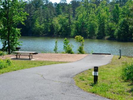 Driveway slopePayne Campground Campsite
