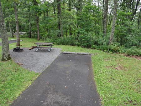 Mathews Arm Campground – Site A034