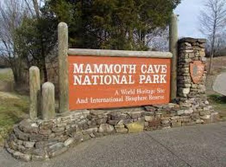 Mammoth Cave National Park Entrance Sign