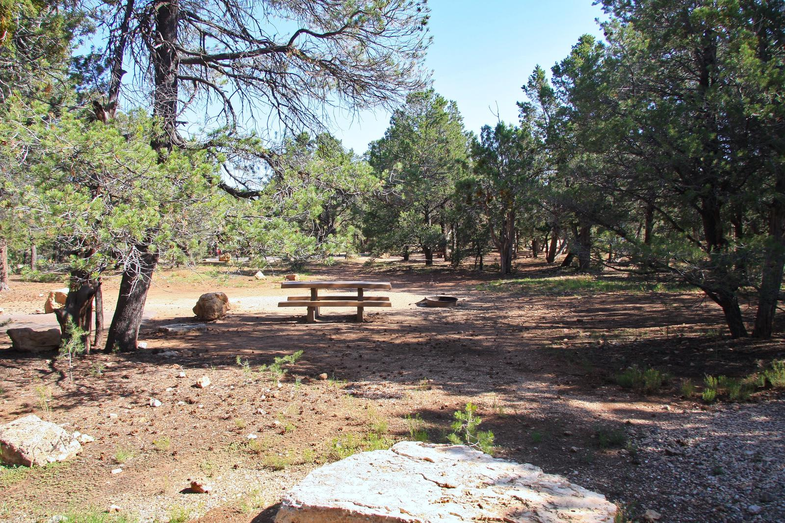 Picnic table, fire pit, and parking spot, Mather CampgroundPicnic table, fire pit, and parking spot for Maple Loop 186, Mather Campground