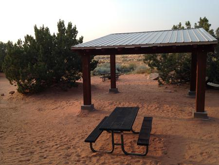 Sand Flats E-1 Group site shade structure