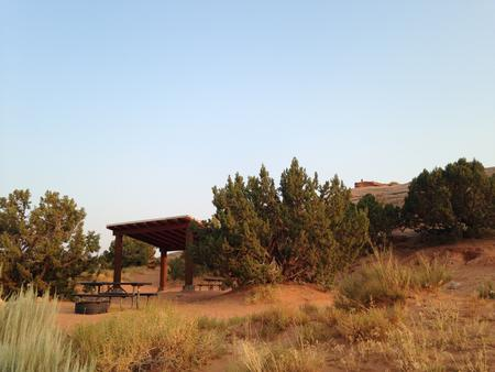 Sand Flats E-1- Showing trees and shade structure