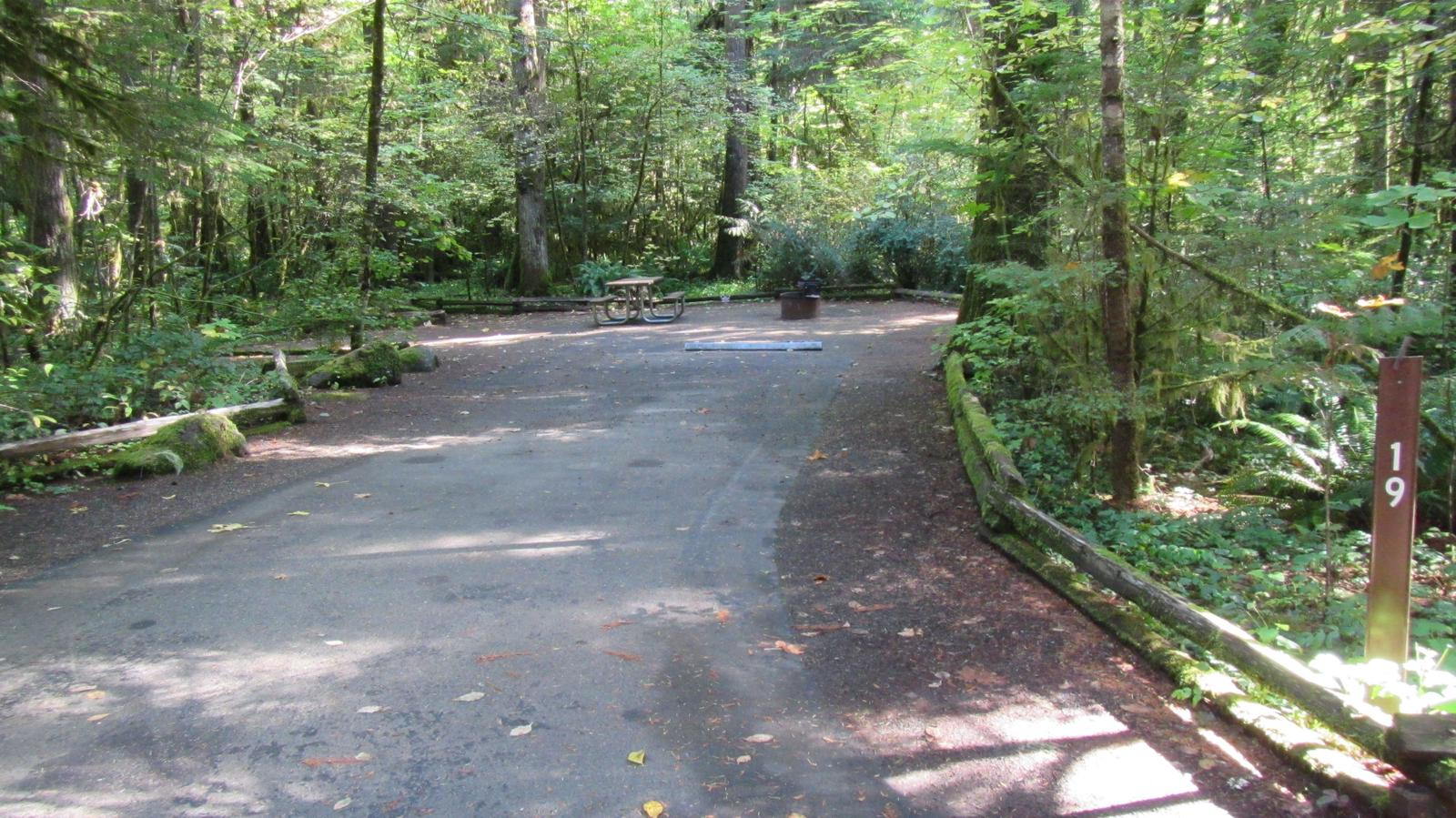 Parking spur and whole campsite
