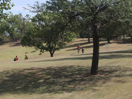 The Dam Disc Golf Coure at Kanopolis LakeThe 9-hole course ties directly into Riverside Park.