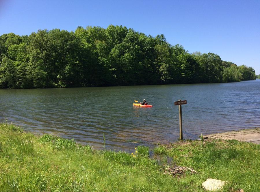 Kayaker on Celina Lake