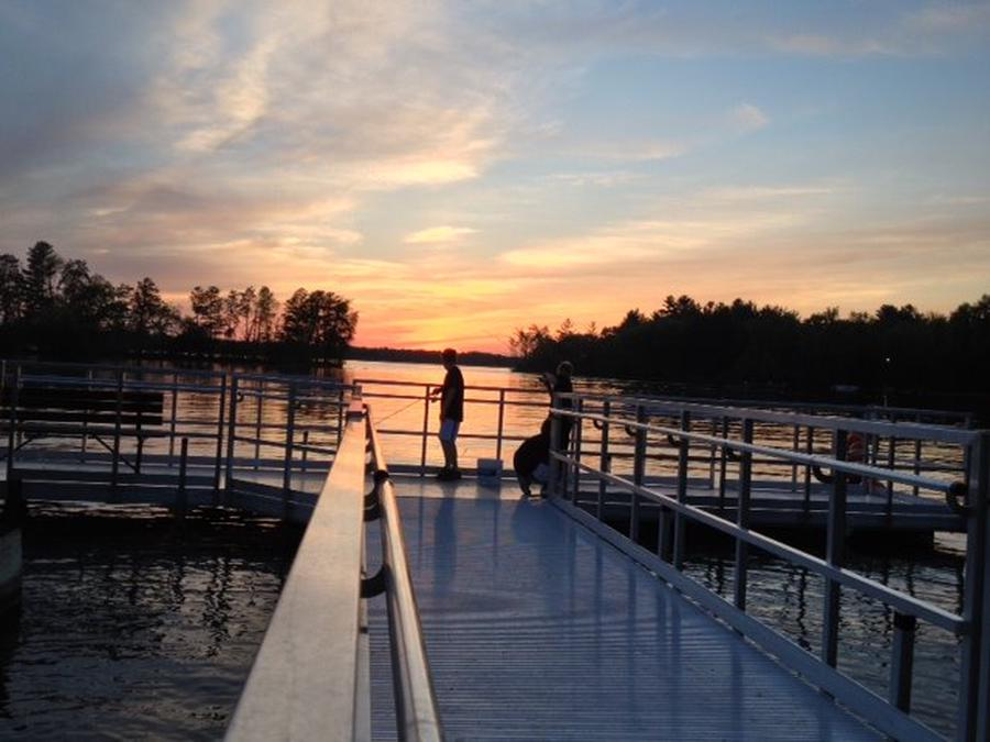 Sunset at fishing dock by shelter #1