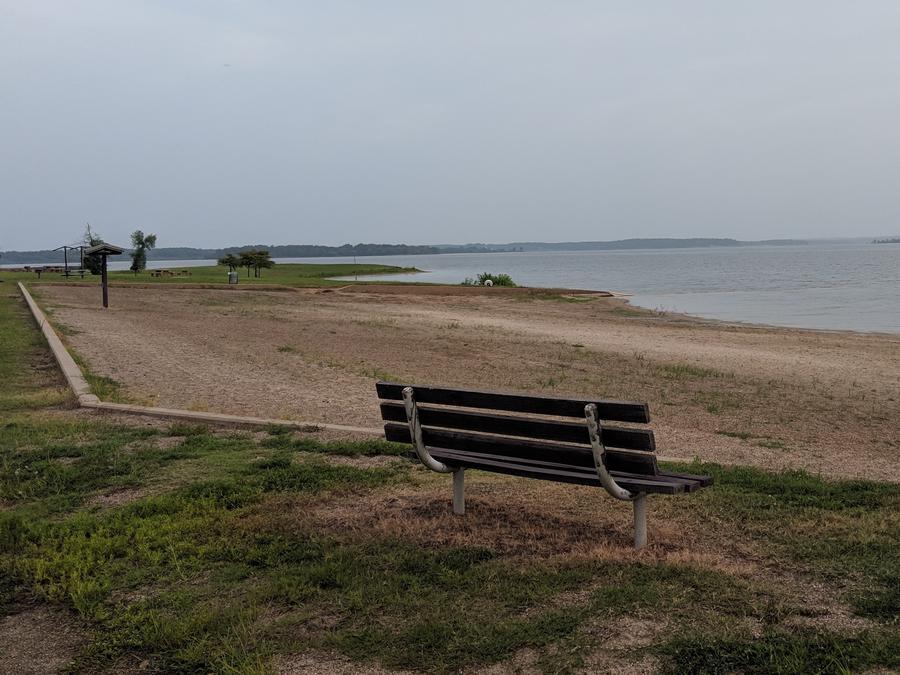 North Shore Beach at Wright Patman Lake.