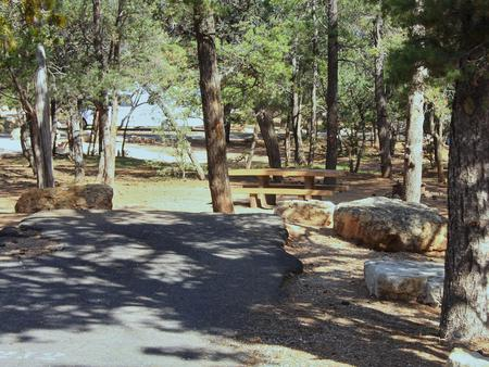 Picnic table, fire pit, and parking spot, Mather CampgroundPicnic table, fire pit, and parking spot for Oak Loop 212, Mather Campground