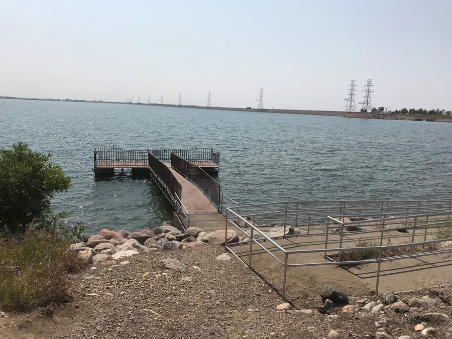 ADA Fishing Pier at East Totten Trail Campground on Lake Audubon