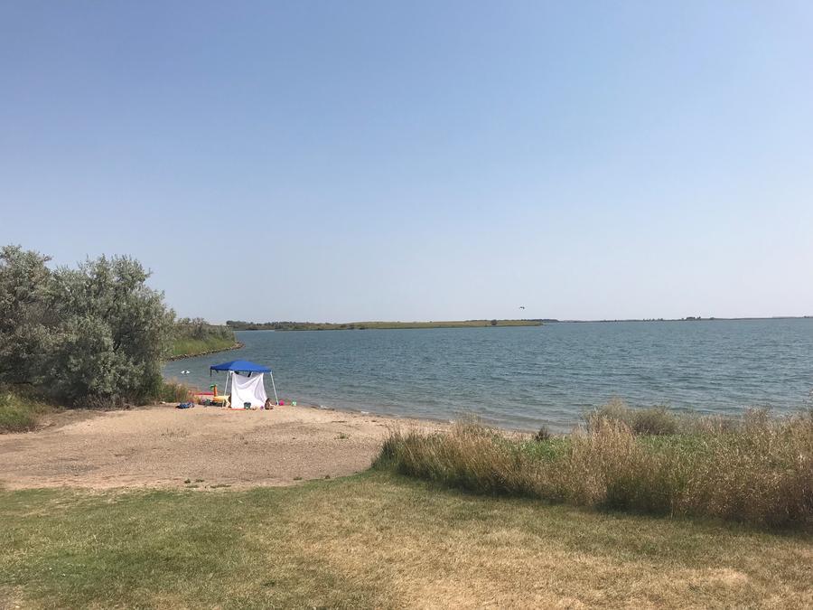 Shoreline use area East Totten Trail Campground on Lake Audubon