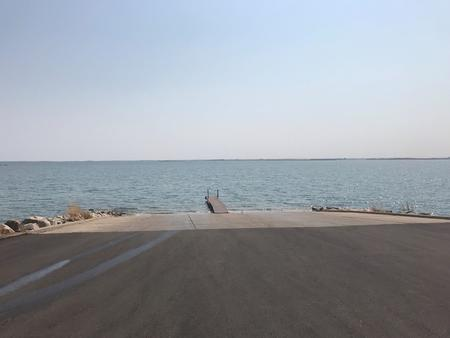 Boat Ramp at East Totten Trail Campground on Lake Audubon