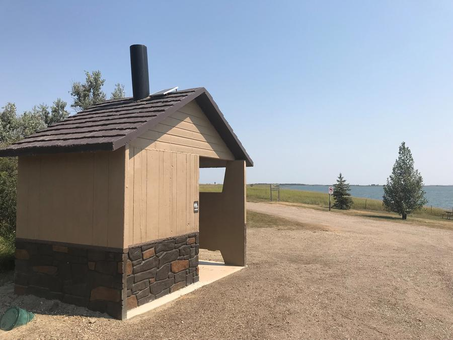 Bathroom Facilities at East Totten Trail Campground on Lake Audubon