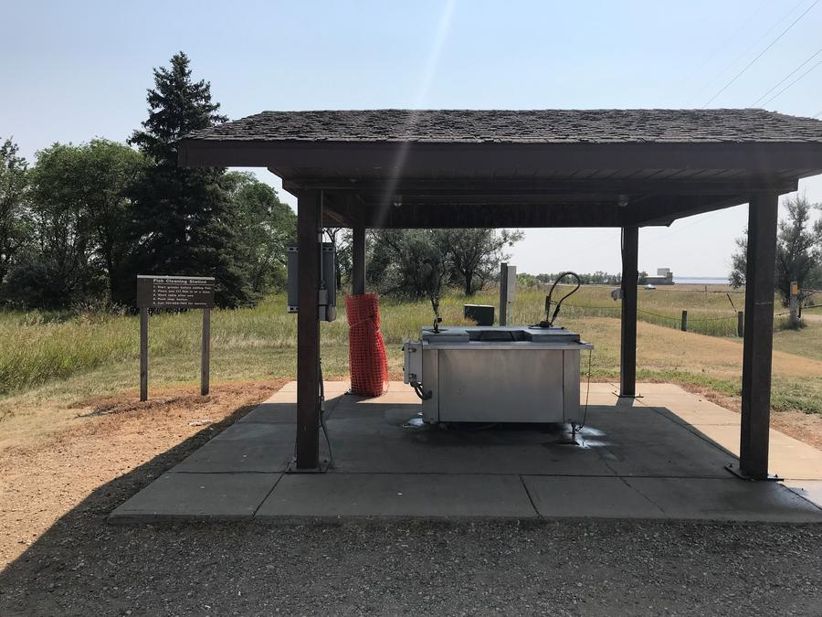 Fish Clean Station at East Totten Trail Campground on Lake Audubon