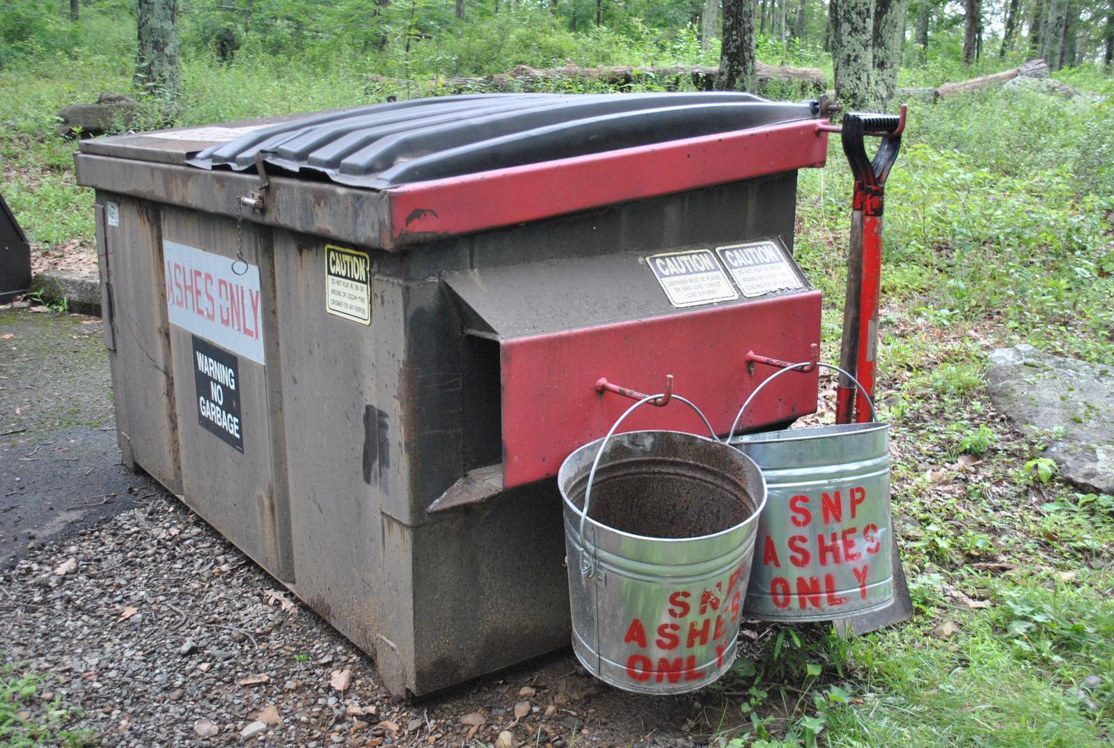 Mathews Arm Campground Ash Buckets