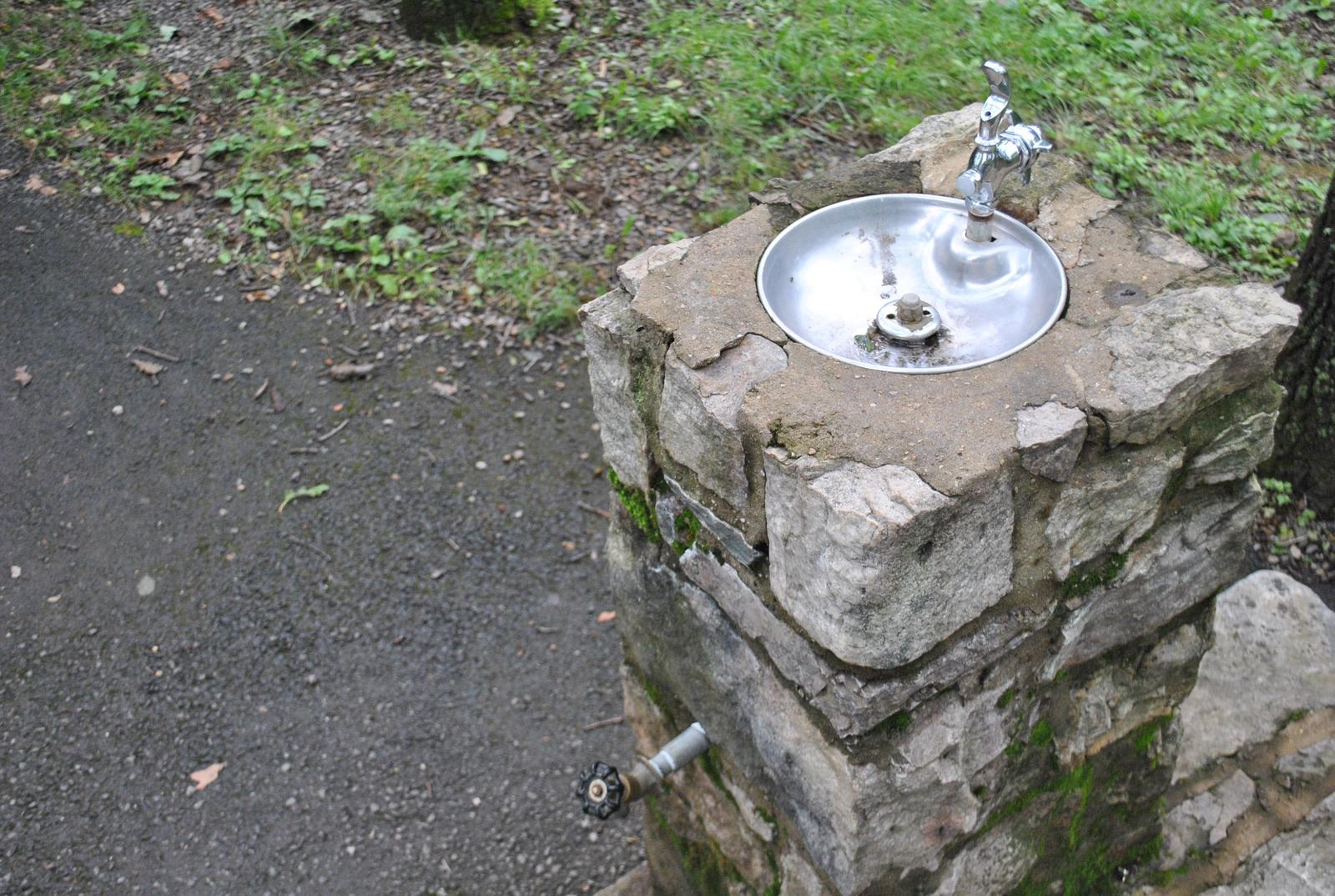 Mathews Arm Campground Water Fountain and Spigot