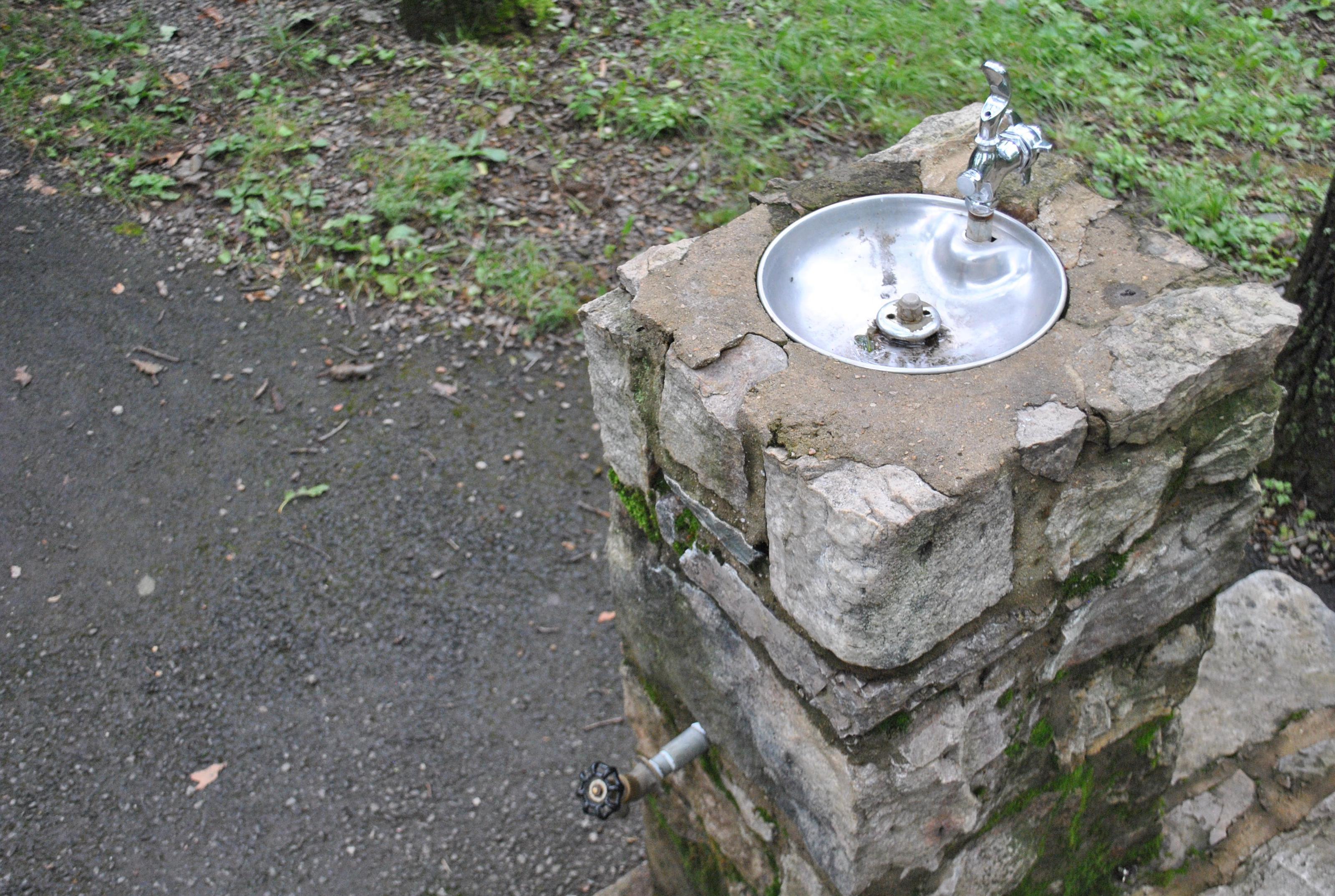 Mathews Arm Campground Water Fountain and Spigot