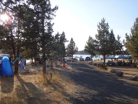 Willow Group Campsite at South Shore Group Campground at Haystack ReservoirMain living space near the lakefront.
