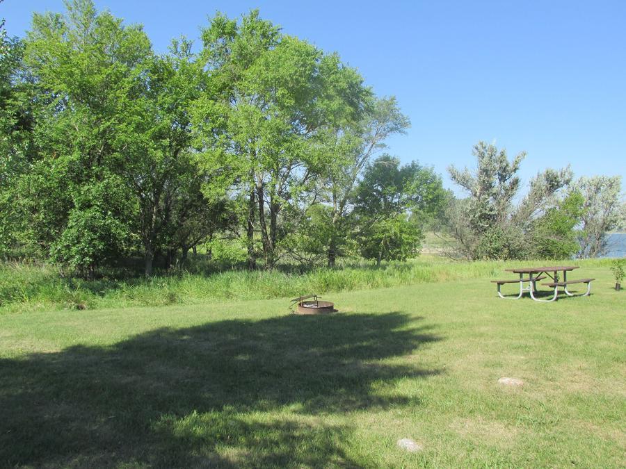 Campsite #27 Wolf Creek Campground on Lake Sakakawea