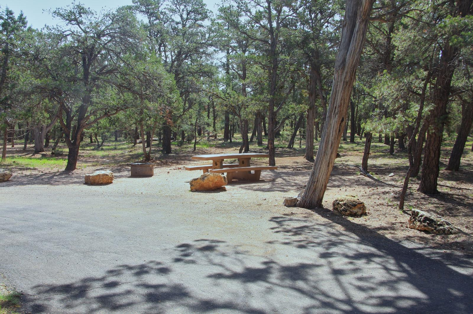 Picnic table, fire pit, and park spot, Mather CampgroundPicnic table, fire pit, and park spot for Oak Loop 239, Mather Campground
