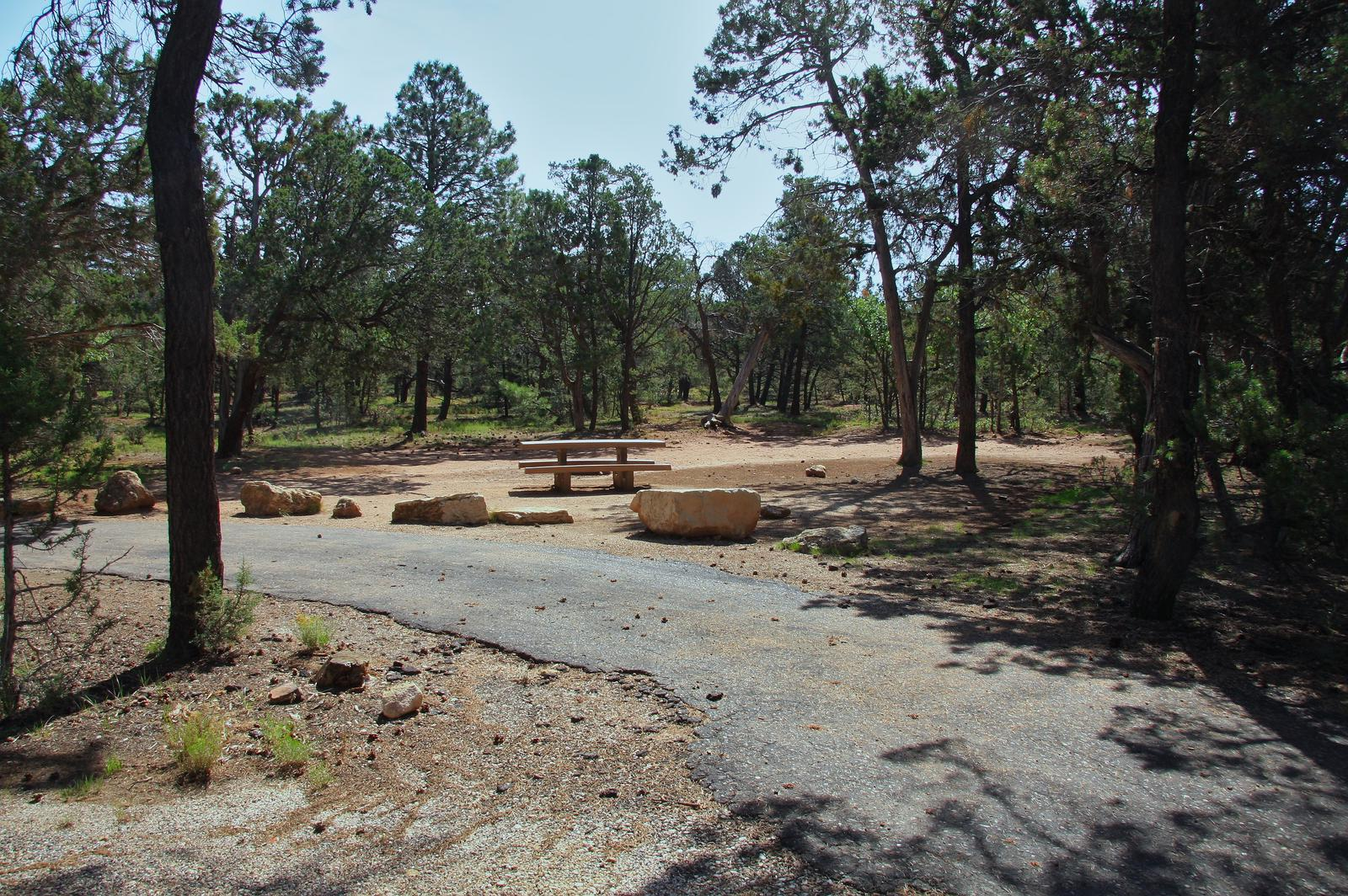 Picnic table, fire pit, and park spot, Mather CampgroundPicnic table, fire pit, and park spot for Oak Loop 247, Mather Campground