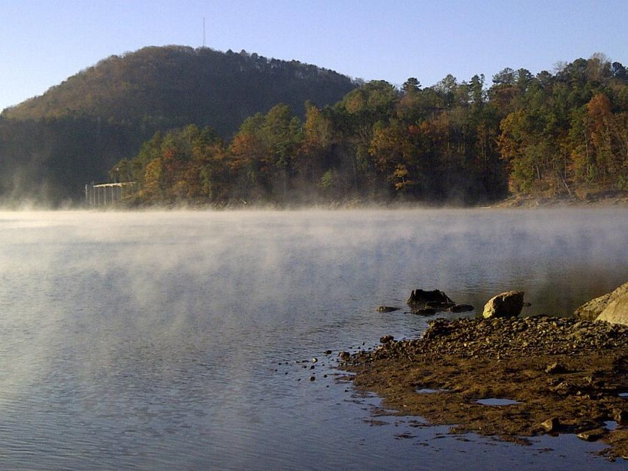 Allatoona Lake on fall morning