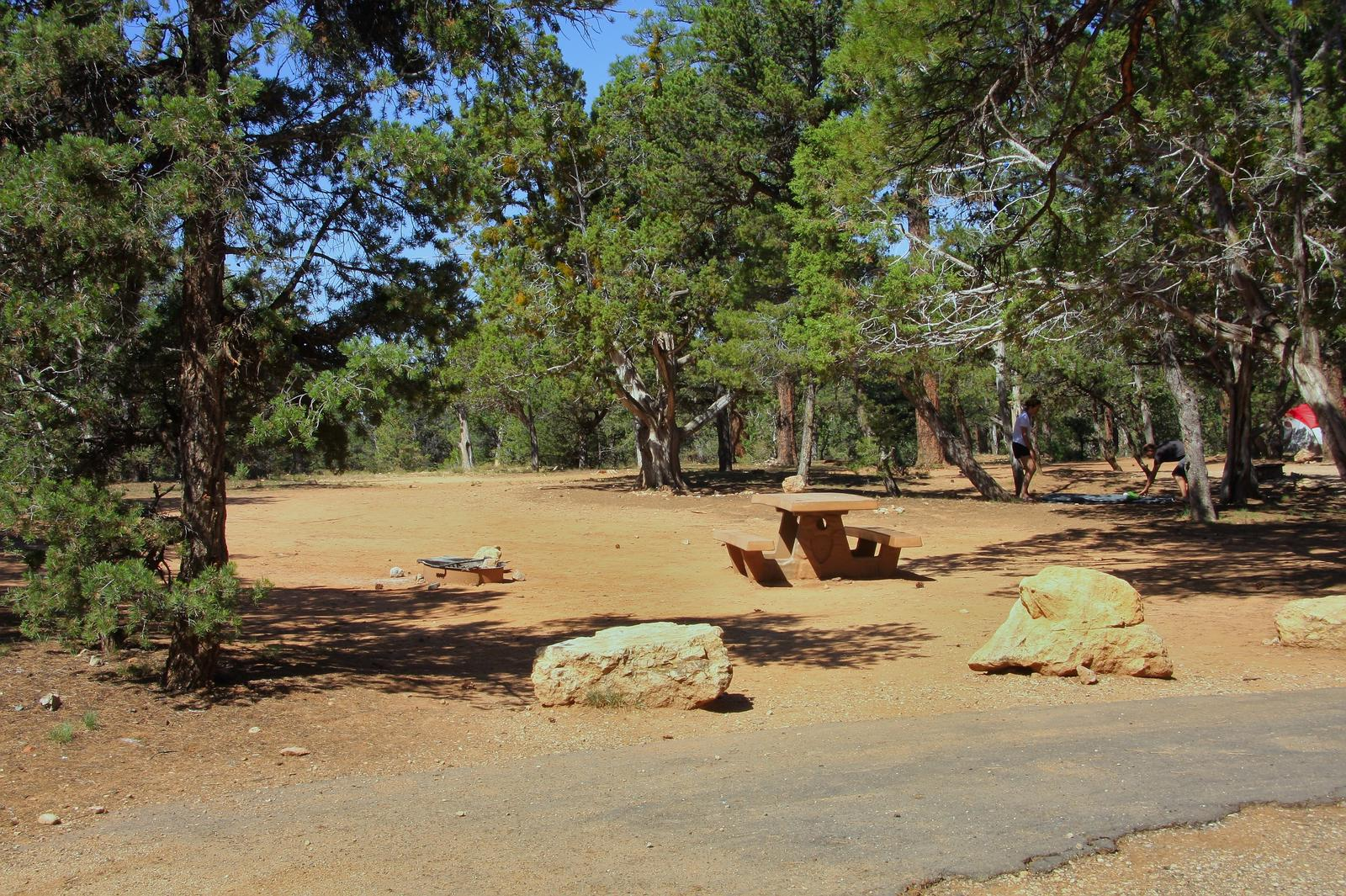 Picnic table, fire pit, and park spot, Mather CampgroundPicnic table, fire pit, and park spot for Oak Loop 263, Mather Campground