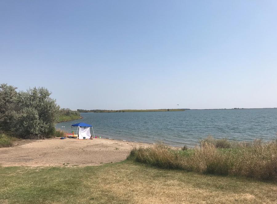 Shoreline Use Area at East Totten Trail Campground on Lake Audubon/Lake Sakakawea