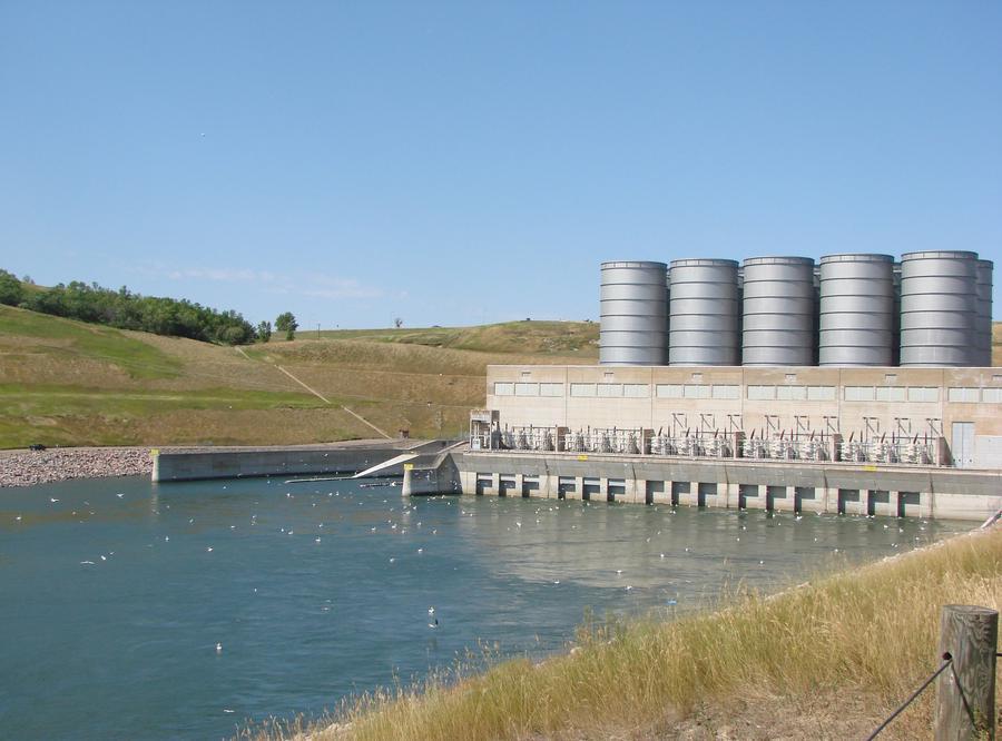 Garrison Dam Powerhouse located below the Garrison Dam Lake Sakakawea