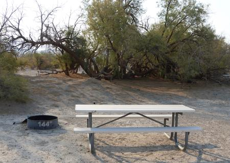 Tent only walk in site #144.  No campervans, RV's, or pop up tents.  One firepit with grate and one picnic table.  No utilities.