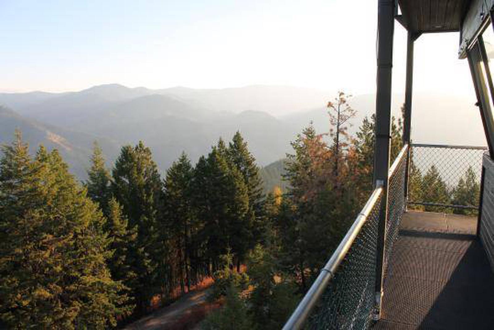 Thompson Peak Lookout view.Thompson Peak Lookout