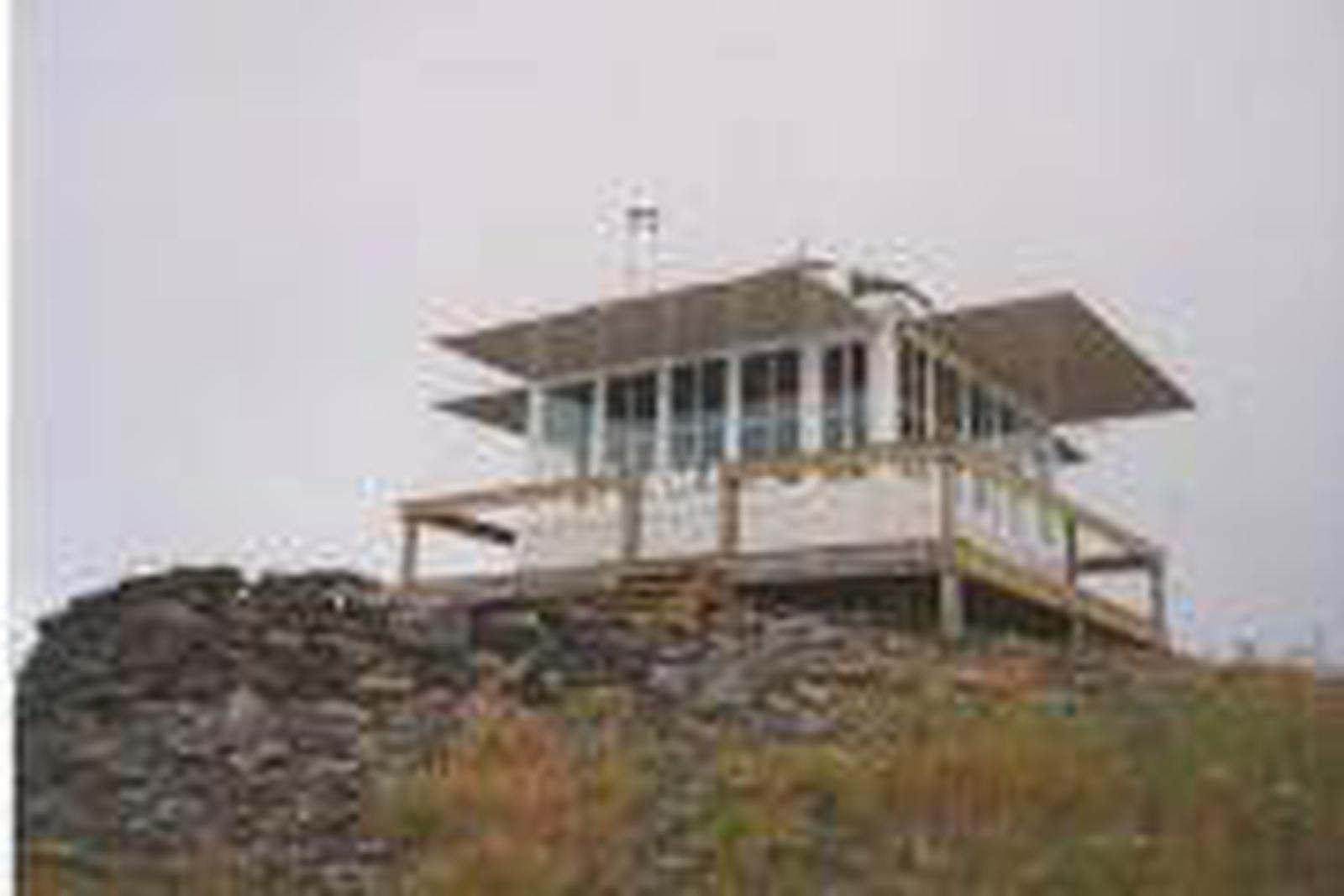 View of Cougar Peak Lookout from the ground below.Cougar Peak Lookout