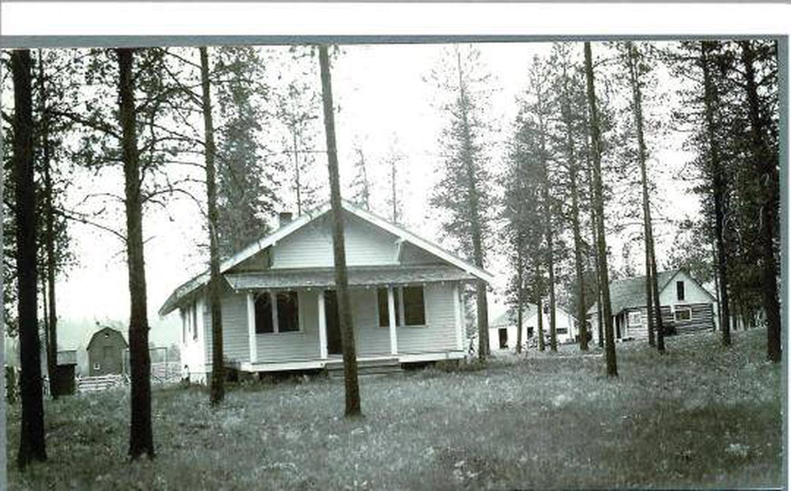 View of the back porch of the bunkhouse/cookhouse.Bend Guard Station