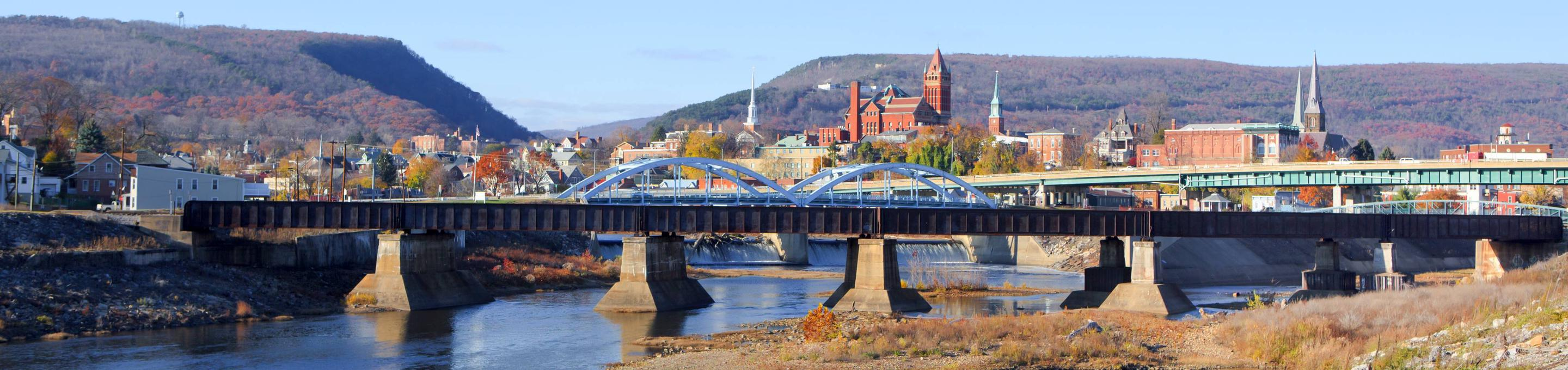 Cumberland, MD panorama from C&O Canal Towpath