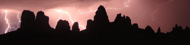 Pinnacles during a lightning storm