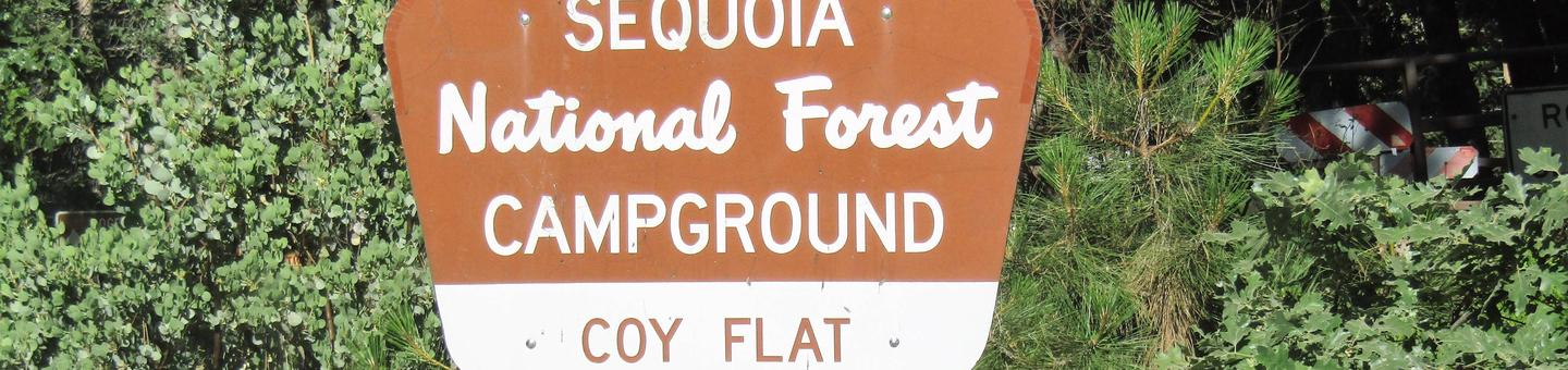 Coy FlatCampground Entrance Sign