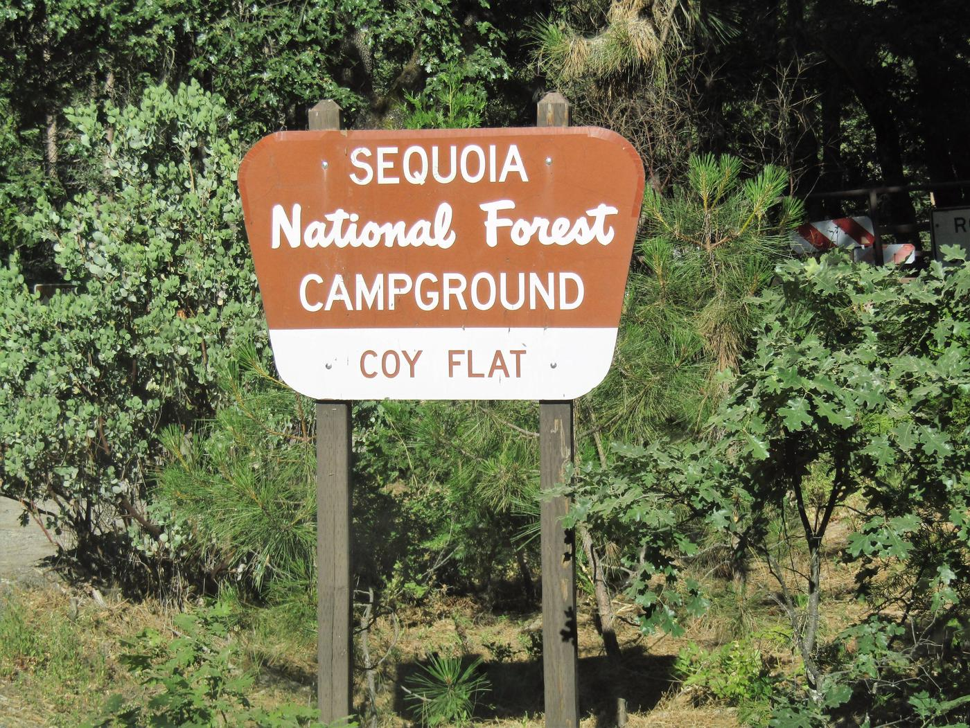 Coy Flat CampgroundCampground Entrance Sign